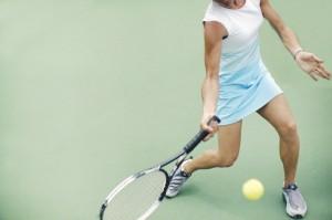 Woman Returning Tennis Volley